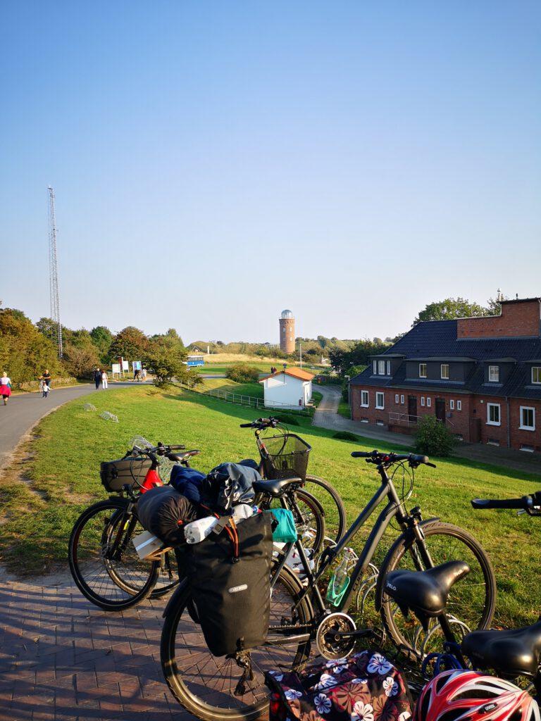 Fahrrad abstellen Kap Arkona