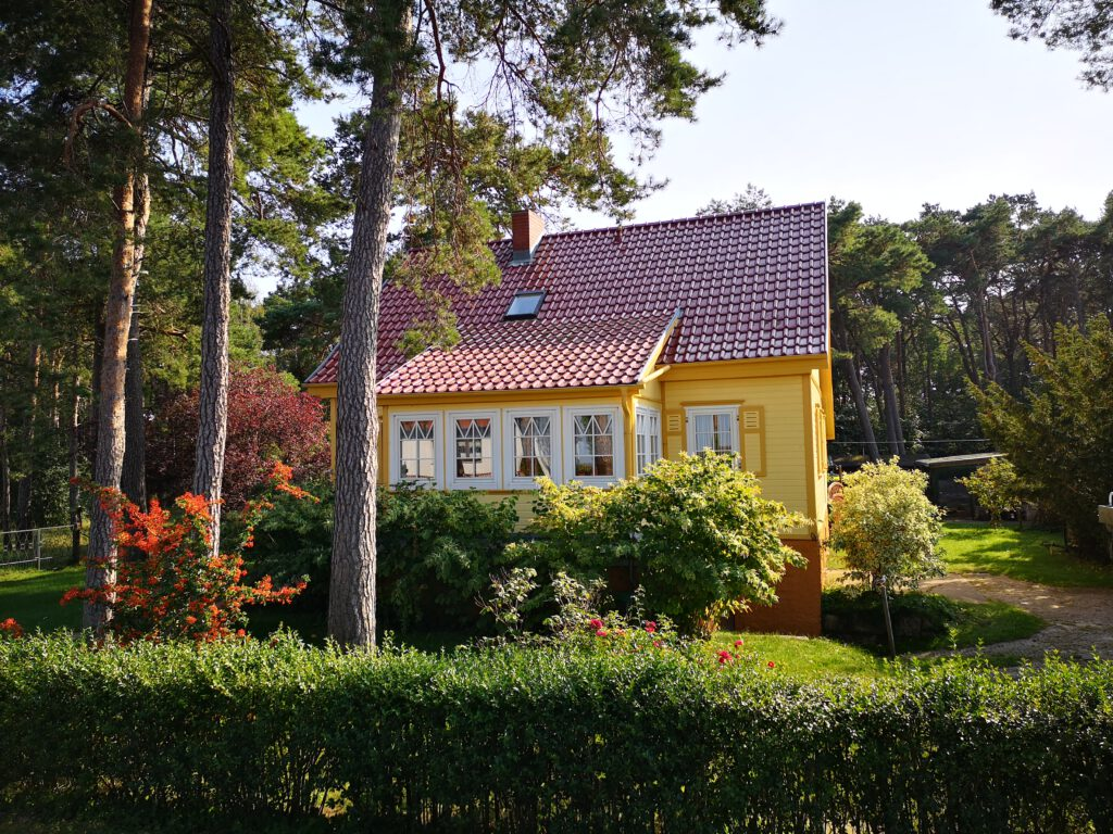 Ferienhaus in Glowe Glowe Ortseingang Radweg Vitt nach Saanitz