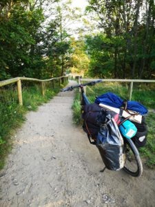 treppe ruegen rundweg radweg nach Vitt